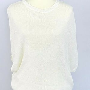 Atmosphere Womens Crochet Top Size Small White